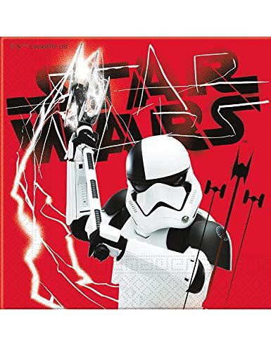 2530; pak 20 servetten Disney Star Wars, rood, Trooper; papieren product; Ideaal voor feesten en verjaardagen.