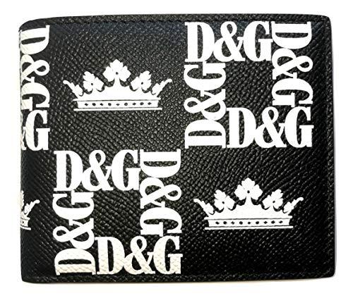 Dolce & Gabbana Cartera hombre de piel BP2463 DG coronas negras
