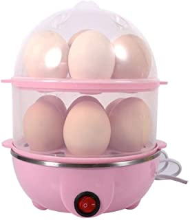 Shree Mart Double Layer Egg Boiler Electric Automatic Off 14 Egg Poacher for Steaming, Cooking, Boiling and Frying, (Multi...