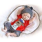 WEHQ Muñecas Reborn, 56 Cm Tamaño Grande Reborn Baby Boy Bebe Doll Reborn Full Silicone Body Los Mejores Niños Sleeping Boy Gift Toys Brinquedos