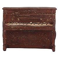 樹脂ピアノモデル、装飾的な造園ピアノラジオモデル、リビングルーム用のユニークな強力なシミュレーション効果ワインキャビネットTVキャビネット本棚7111-78 red piano