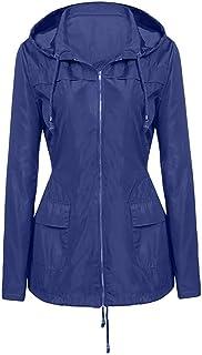 Waterproof Windproof Rain Jacket Women Outdoor Hooded Raincoat Sunmoot