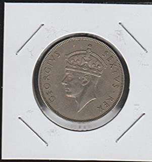 1950 CF Crowned Head of King George VI Left Shilling Choice About Uncirculated Details