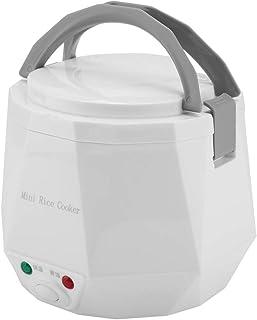 1.3L 12V 100W Olla arrocera eléctrica Caja Mini USB Olla arrocera Extraíble de grado alimenticio Doble hebilla de seguridad Cocine arroz Para uso de automóviles (White)