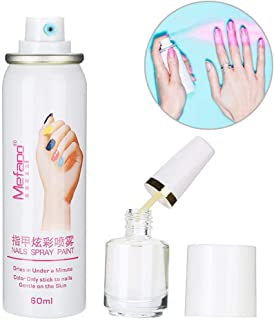 Nail Polish Spray, 60ml Professional Easy Washing Peelable Nail Polish Gel Drying Spary Quickly Dries Nail Art Manicure Tool(Purple Red)