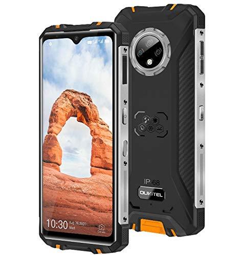 Smartphone Robusto OUKITEL WP8 Pro, Pantalla Inmensa 6.49'', IP68 Teléfono Antigolpes Móvil Impermeable Android 10, Octa-Core 4GB + 64GB, Cámara Triple de 16MP, Batería de 5000mAh, NFC GPS Naranja