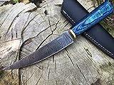 Perkin Cuchillo Caza Cuchillo de Acero Damasco BN1000