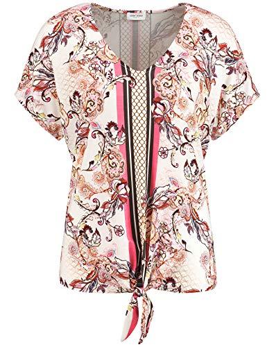Gerry Weber Damen Shirt Mit Mustermix Leger Rosa/Tabak/Flamingo Druck 44