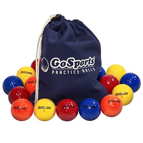 GoSports Allzweck-Golfbälle zum Spielen oder Üben | 16 Stück mit Tragetasche