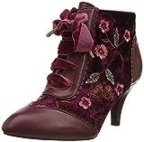 Joe Browns Memories of Venice Ankle Boots, Botas Cortas al Tobillo Mujer, Rojo Oscuro, 39 EU