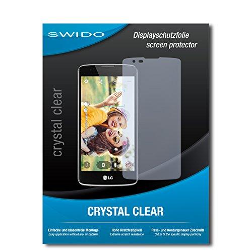SWIDO Schutzfolie für LG K8 [2 Stück] Kristall-Klar, Hoher Festigkeitgrad, Schutz vor Öl, Staub & Kratzer/Glasfolie, Bildschirmschutz, Bildschirmschutzfolie, Panzerglas-Folie