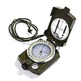 Gwhole - Bussola Impermeabile per Escursioni, Militare, Navigazione, con Cordino, Sacchetto e Manuale utente (Lingua Italiana Non Garantita)