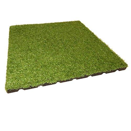 Gartenpirat Fallschutzmatte 50x50 cm 25 mm Teppichplatte mit Kunstrasen