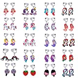 20 Pairs Clip on Earrings Girls Princess Play Jewelry...