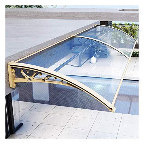 Tejadillo De Protección Marquesina para Puertas Y Ventanas Marquesina De Protección Impermeable para Terrazas Canopy Cubierta De Policarbonato 4 Tamaños (Color : Clear, Size : 60×100cm)