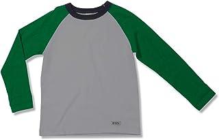 Camiseta Corrida Manga Longa Verde Green - Infantil Menino