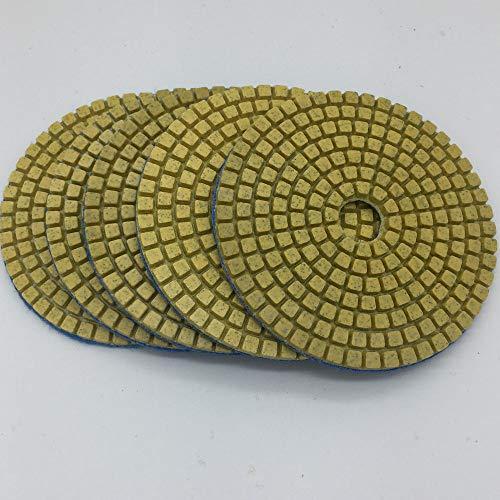 GIPOTIL 5 piezas 3 discos de pulido flexibles de diamante surtidos de calidad superior de 80 mm Disco de pulido húmedo para cerámica de vidrio de piedra de mármol, grano 150