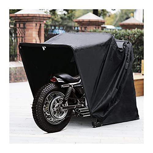 wasserdichte Motorrad Schutzhülle Schuppen Abdeckung Starker Rahmen Garage Motorrad Zelt Roller Schutzmotorraum Staub Regenschutz