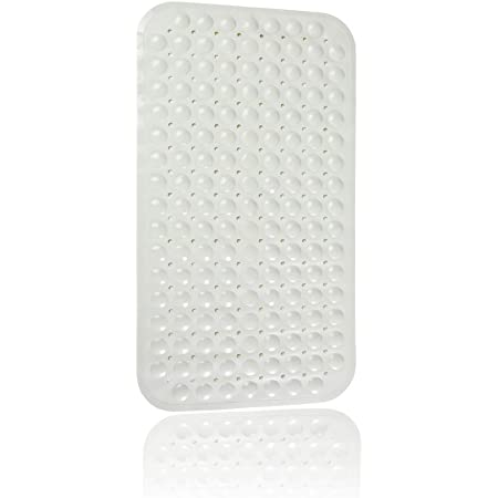 70x 38cm,grey TKONE Bath Mats Non-slip Shower Mats,Bathtub Mat with Suction Cups Fit for Bathroom /& Shower,Machine Washable