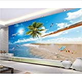 Zybnb  HD Love Sea Beach Mediterráneo Hawaii Coco TV Pared   Sala de estar3d Papel tapiz Dormitorio Mural Mejor precio