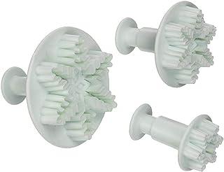 3pcs Snowflake Fondant Cake Decorating Shape Plunger Cutter Bakvormen Mold Gereedschap Accessoires Geschikt Voor Decoratie...