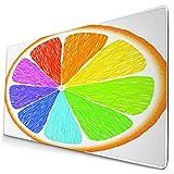 Bonita Alfombrilla de ratón,Color limón y arándano,Alfombrilla Rectangular de Goma Antideslizante para Escritorio,computadora portátil,Alfombrilla de Escritorio para Jugadores,15.8 'x29.5'