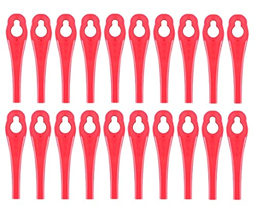 100 Stück Ersatzmesser für Parkside PRTA 20 Li A1,Kunststoffmesser für Rasentrimmer Parkside Akku Rasentrimmer