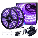 YAYIT 40 Foot Led Black Light Strip Kit, 720 Units Led, 12V Flexible Blacklight Fixtures, Non-Waterproof