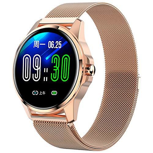 FRTUI Reloj Inteligente para Mujer Impermeable Frecuencia CardíAca Monitor de PresióN Arterial Reloj Inteligente para Reloj de Mujer
