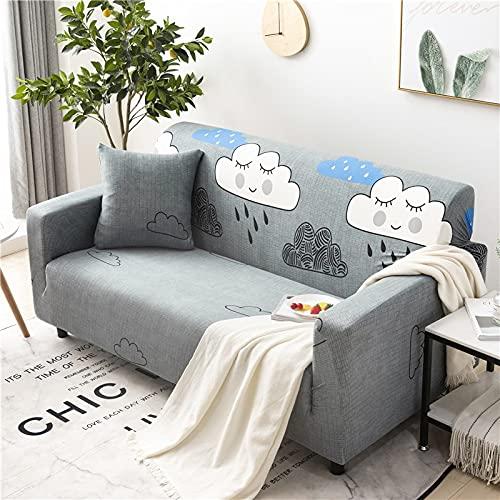 ASCV Funda de sofá de Spandex con Estampado de Girasol Antipolvo Funda de sofá elástica Funda de sofá de Dos plazas Sillón seccional en Forma de L Funda de sofá de Esquina A4 1 Plaza