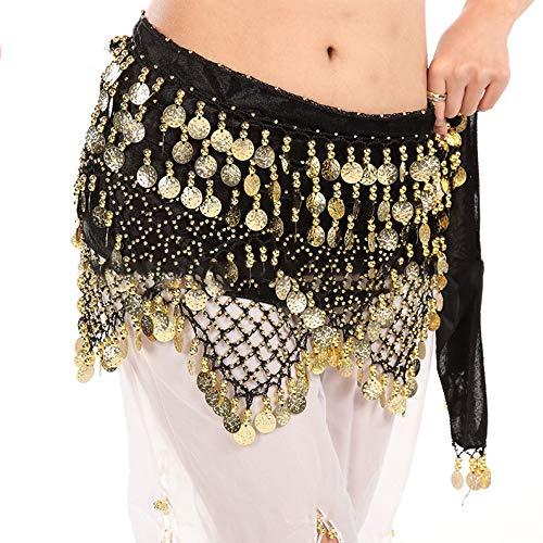 Bufanda para Danza del Vientre, Cinturón para Danza del Vientre, Cinturón para Danza India, Cadena de Cintura de Baile, Decoración de Bailarina, para Espectáculo, Fiesta, Celebración, Estudio