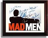Framed Mad Men Autograph Replica Print - Mad Men Cast