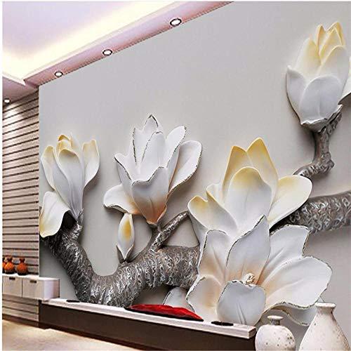 Fototapete Wandbild Hintergrund 3d TapetenBenutzerdefinierte Tapete 3d Foto Wandbilder Pfau Relief Hintergrund Wand Schmetterling Blumenmord Tapete 3d Papel de Parede-Über 430 * 300 cm