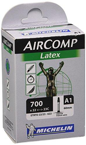 Michelin Shimano Cámara, látex, válvula Presta, 60 mm, Unisex, Negro, UK: 700 x 22-23c
