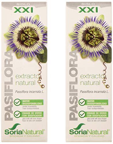 Soria Natural Extracto Passiflora XXI - 2 Paquetes de 1 x 50 ml - Total: 100 ml