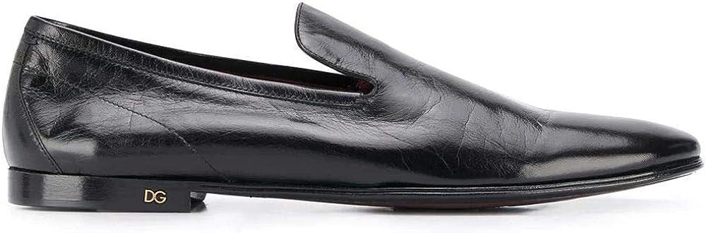 Dolce & gabbana luxury fashion mocassini uomo in vera pelle A50352AX19980999
