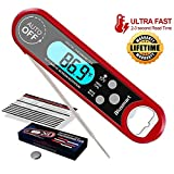 Meat Thermometer, Blusmart Instant Read Cooking Thermometer with IP67 Waterproof & Backlight LCD