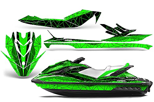AMR Racing Jet Ski Graphics kit Sticker Decal Compatible with Sea-Doo GTI SE130 2011-2019 - Geometrik Green