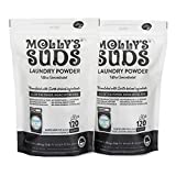 Product Image of the Molly's Suds Unscented Laundry Detergent Powder | Natural Laundry Soap for Sensitive Skin | Earth-Derived Ingredients, Stain Fighting | Bundle of 2-240 Loads Total