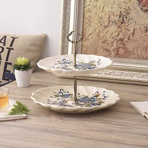 B-fengliu Obstkorb Obsttablett, Nordic Style 2 Abnehmbare Mehrzweckbehälter Keramik Palette Home d u0026oactr.COR Racks Esstisch Dekoration Obst Platte Obstschale (Color : A)
