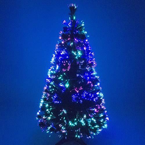 Christmas Concepts® 6ft (1,8 mètres) Vert Arbre Fibre Optique Arbre Noël avec Multi LED Source 180cm