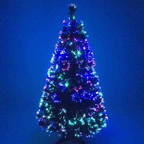 Christmas Concepts 6ft Green Artificial Fibre Optic Christmas Xmas Tree with Multi LED Source 180cm