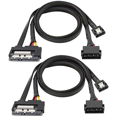 Cable de Datos SATA 6G, Cable de extensión SATA 2 en 1,...