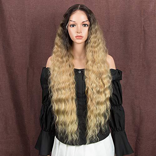 Style Icon Peluca de 30 pulgadas de encaje frontal peluca sintética de 3,8 x 10,1 cm de encaje sintético cuero cabelludo natural recto corto calidad pelucas para las mujeres resistente al calor fibra