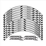 Pegatina de Ruedas 12 PCS Ruedas de Motocicleta Pegatinas Stripe Moto Reflective Protection Decorative Protection Rim Tire Pegatina for F900R (Color : 5)