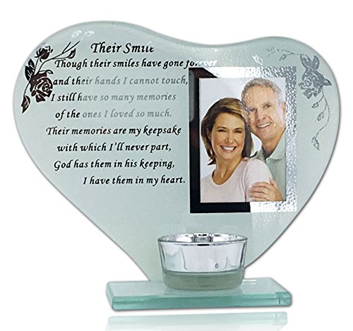Their Smile Ornament Her/His Smile Photo Frame Inspiration Poem Memory Plaque