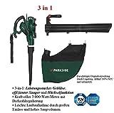 Soplador aspirador triturador de hojas Parkside eléctrico 3 en 1