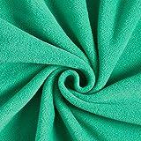 Fabulous Fabrics Fleece grün, Uni, 150cm breit –