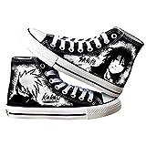 Vngbds Zapatos de Lona Naruto Zapatos de Anime Zapatillas Altas Zapatillas de Suela de Goma for Estudiantes Casuales con Cordones Zapatos Planos para Estudiantes Adultos