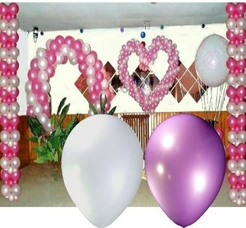 Spaf Décoration Mariage - Coffret décoration ballon mariage blanc parme Coffret kit 412 ballons nacrés 18cm, 30cm, 1mtr et explosif